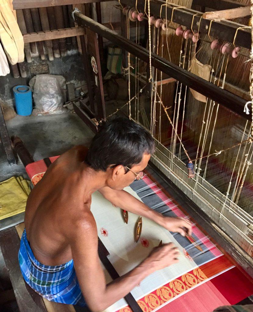 Photo of Murshidabad silk weaving