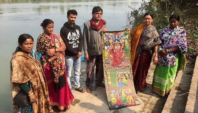 Kinetika invites West Bengal Patachitra artists to work with communities along The Thames Estuary