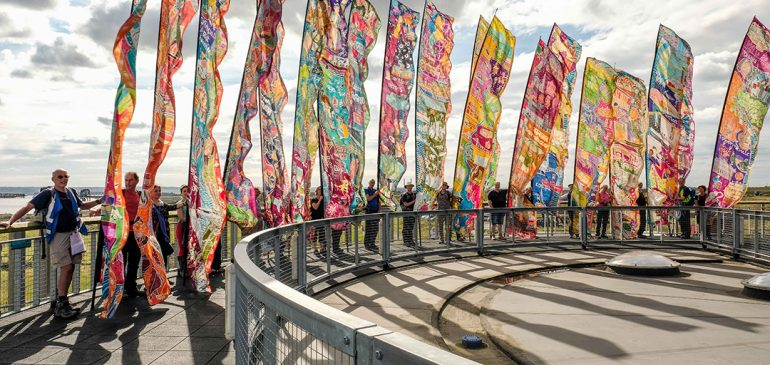 Silk River Flags featured in Manchester Day Parade 2018