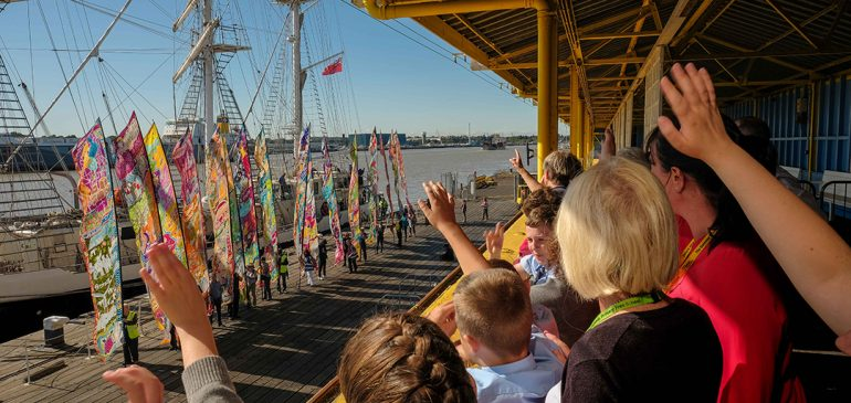 Tilbury and East Tilbury were visited by the Silk River 'art walk' last week