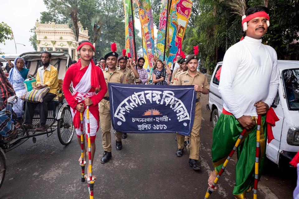 Silk River parade Chandannagar