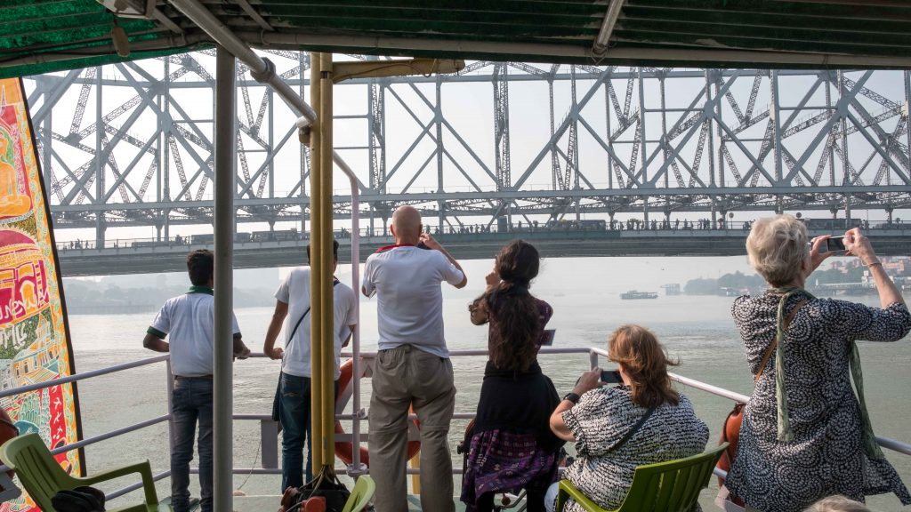 Passing under Howrah Bridge