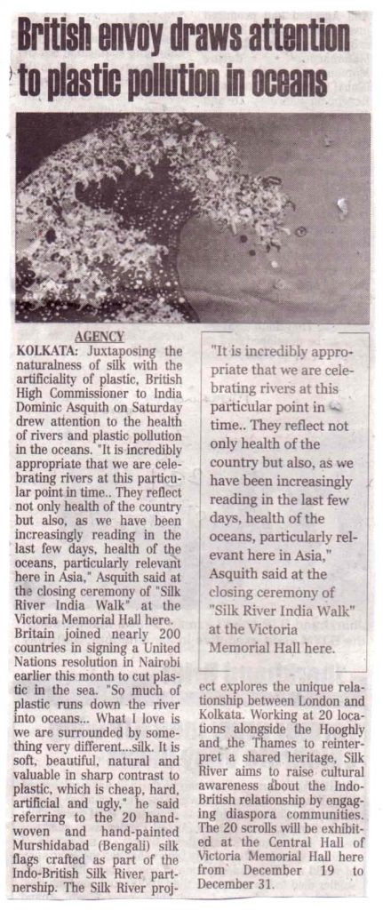 Report of speech at Silk River closing ceremony by Sir Dominic Asquith