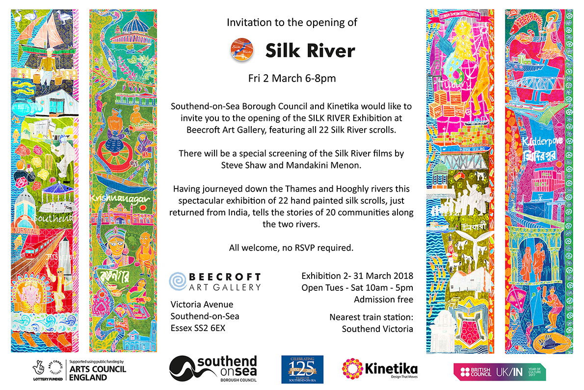 Silk River Beecroft Exhibition invite